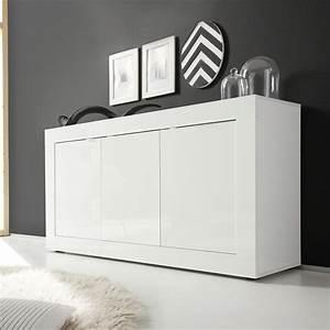 Bahut Blanc Laqué Design : bahut blanc laque ~ Teatrodelosmanantiales.com Idées de Décoration