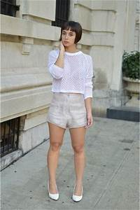 Light Pink High Waisted Nasty Gal Shorts White Netted