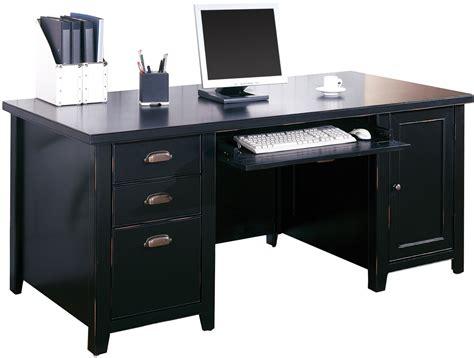 black office desk tribeca loft black office furniture pedestal