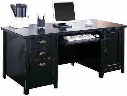 Desk Computer Double Pedestal Furniture Loft Executive