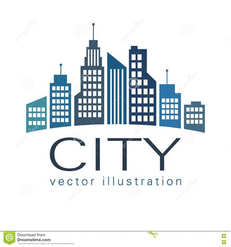 city logo vector building web icon stock vector image