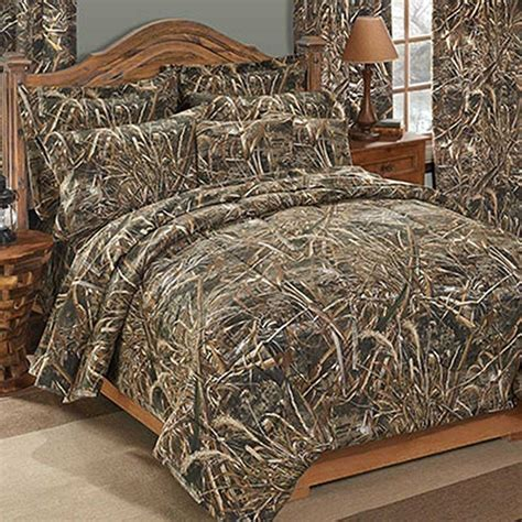 realtree max 5 camouflage comforter sham set full size