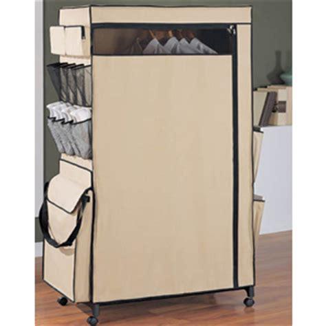 portable closet wardrobe center with wheels 53321 oi