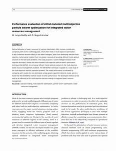 (PDF) Performance evaluation of elitist-mutated multi ...