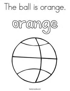 Basketball Sheet Template The Is Orange Coloring Page Twisty Noodle