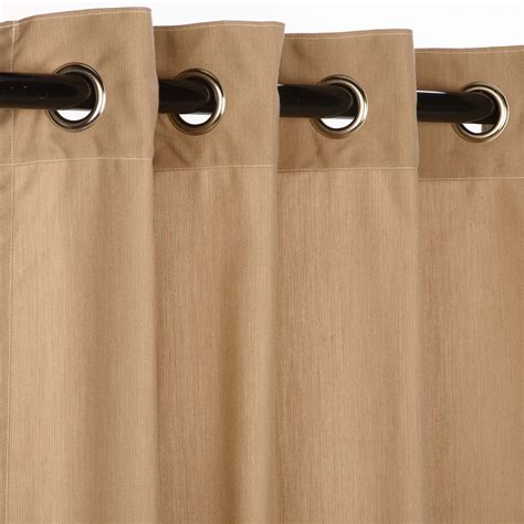 spectrum sand grommet sunbrella outdoor curtains