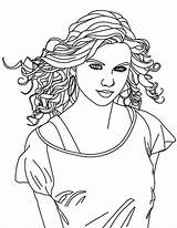 Coloring Singer Country Swift Taylor Pages Female Drawing Singers Printable Getdrawings Getcolorings Comments sketch template