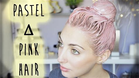 Pastel Pink ∆ Coral Hair Tutorial Brittany Balyn Youtube