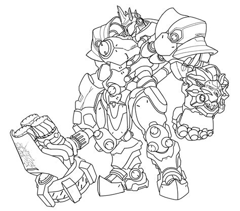 Kleurplaat Overwatch Doomfist by Overwatch Coloring Pages Get Coloring Pages