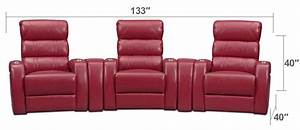 bravo 5 piece power reclining home theater sectional red With red sectional sofa american signature