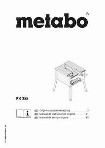 Metabo Pk 255 Tools Download Manual For Free Now
