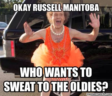 Richard Simmons Memes - russell manitoba sweating to the oldies with richard simmons