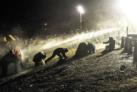 standing rock protesters water trump protest police hose freezing american temperatures thanksgiving indian under spray native sioux dakota avery leigh
