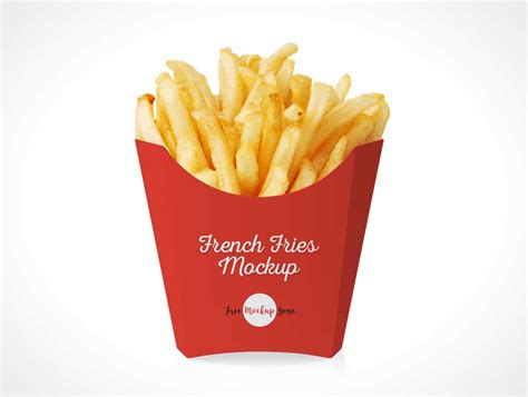Great set of 4 business card mockups to showcase your graphics and branding for your clients or personal brand. French Fries Fast Food Packaging PSD Mockup - PSD Mockups