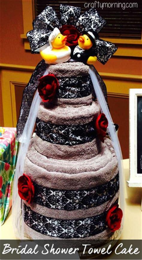 diy bridal shower gifts diy bridal shower towel cake gift idea crafty morning