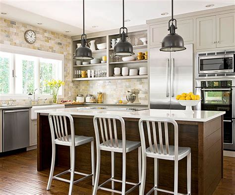country kitchen island ideas a bright approach to kitchen lighting
