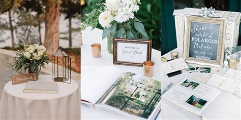 decorate wedding guest book table 15 trending wedding guest book sign in table decoration ideas emmalovesweddings