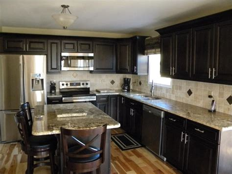 what color countertops with white cabinets grey granite for dining table by mocha tile backsplash