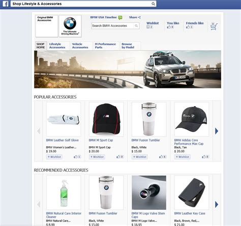 Bmw Usa Launches Lifestyle & Accessories Shop On Facebook