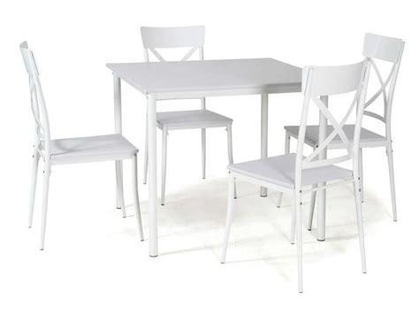 ensemble table carree   chaises de cuisine romy coloris