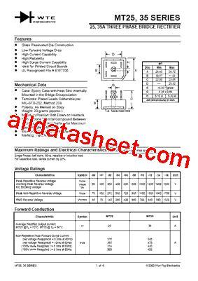 MT2501 Datasheet(PDF) - Won-Top Electronics