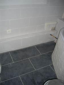 carrelage sol salle de bain gris clair With pose carrelage salle de bain
