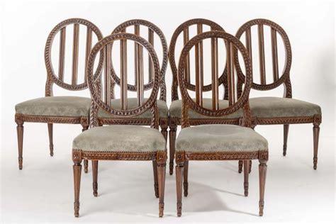 six chaises de salle 224 manger d 233 poque louis xvi