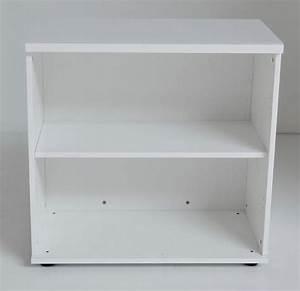Etagere 80 Cm : ogi y etagere basse 2 tablettes h78 x 80 cm blanc ~ Teatrodelosmanantiales.com Idées de Décoration