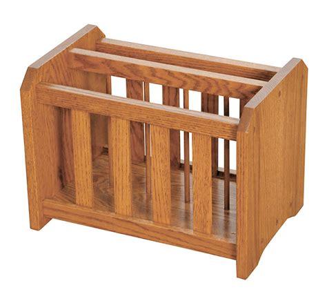 oak magazine rack four seasons furnishings amish made furniture solid oak