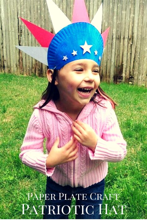 tutus amp tea 820 | Patriotic Paper Plate Hat Craft