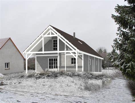 maison aspect chalet 224 ossature bois et bardage nos projets maison 2 pans