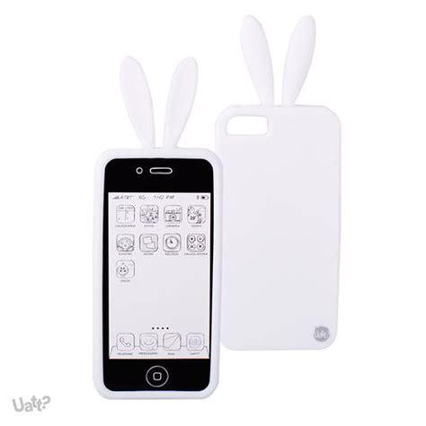 capa iphone 5 e 5s de silicone coelho branco formiga