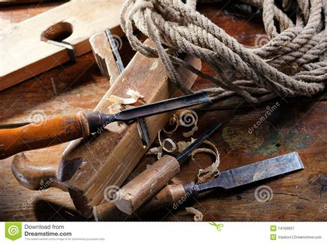 vintage woodworking tools stock image image  hand