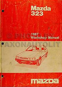 1987 Mazda 323 Shop Manual 87 Original Repair Service Book