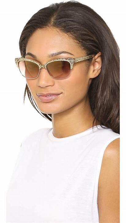 Spade Kate Sunglasses Gold Shira Glitter Brown