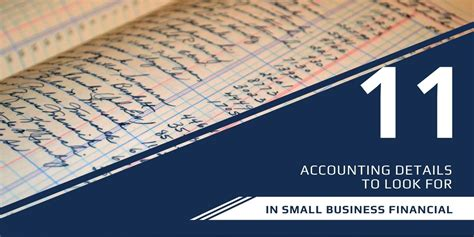 accounting details     small business