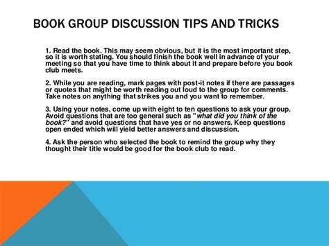 Ncompass Live How To Lead A Book Group With No Discussion