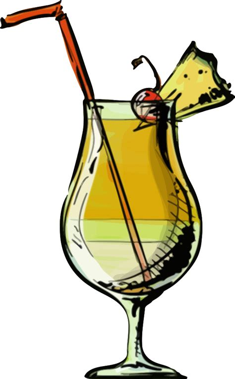 onlinelabels clip art pina colada cocktail