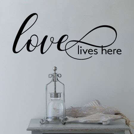 love lives  wall quotes decal wallquotescom