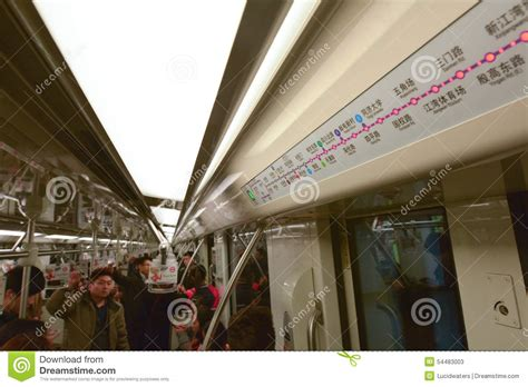 Both printable english and chinese versions' where do you intend to go? Passengers In Shanghai Metro - China Editorial Stock Photo ...