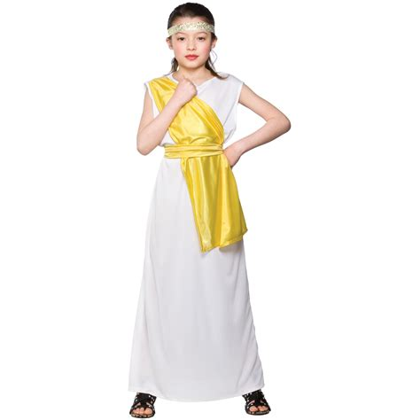 Girls Ancient Greek Girl Costume Fancy Dress Up Party Halloween Kid Child Medium