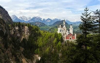 Germany Neuschwanstein Castle Bavaria Winter Landscape Bavarian