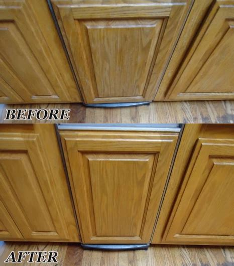 Cleaning Wood Cupboards by These Oak Kitchen Cabinets With Color Wear And Water