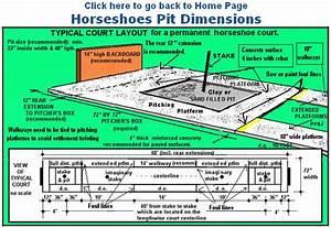 Official Horseshoe Pit Dimensions Diagram