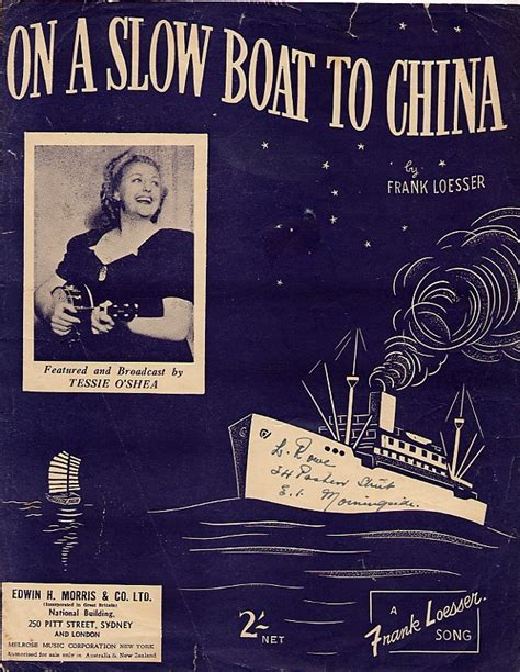 On A Boat To China by 17 Best Images About Songs Of Sheet On
