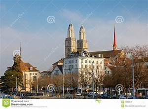 Grossmunster Cathedral. Zurich Royalty Free Stock Images ...