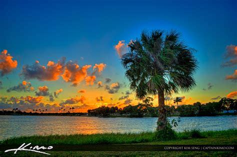 lake osborne florida sunset palm worth cabbage print