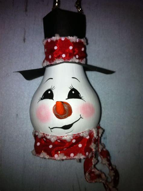 recycled light bulb snowman snowmen pinterest