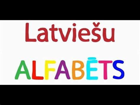 Latviešu alfabēts - YouTube