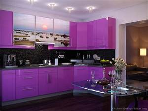 pictures of modern purple kitchens design ideas gallery With kitchen colors with white cabinets with color sticker printer